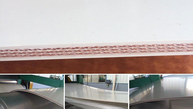 FDA White rubber conveyor belt