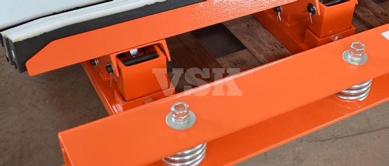 VSK impact bed, impact cradle, loading chute