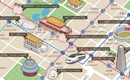 金隅环贸国际公寓,旅游地图