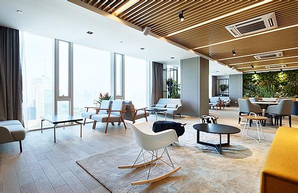 泰隆蓝色钱江愉悦吧--办公空间设计