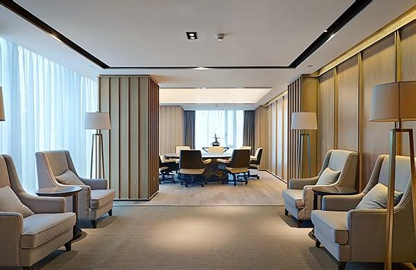 金融公司贵宾接待室-办公空间设计