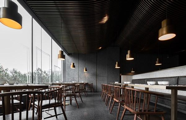 高桌子低板凳面馆-空间设计