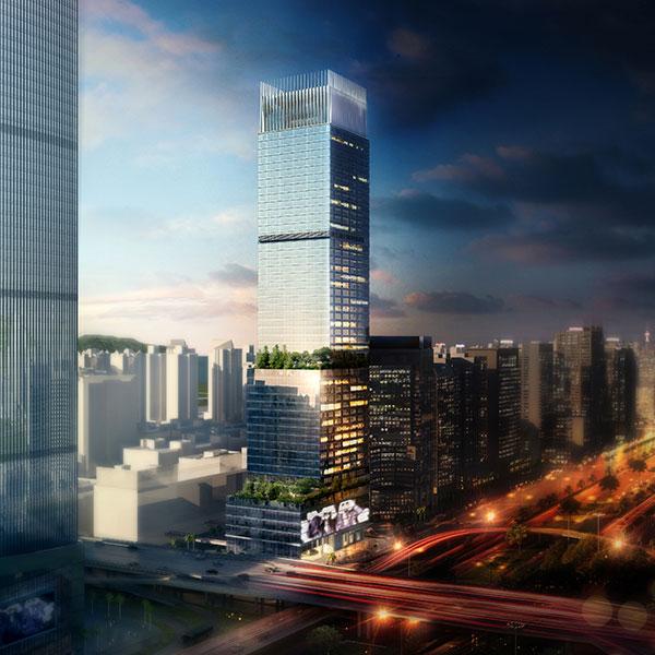 深圳车公庙交通枢纽上盖物业