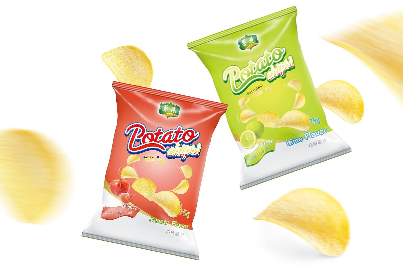 薯花 薯片包装形象设计
