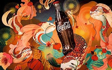 C4D剪纸可口可乐广告