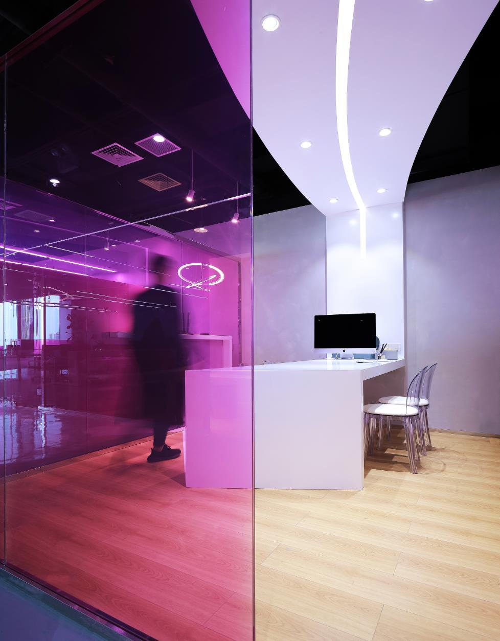 错位,抽象,几何,构成,诉说著一个有颜色的办公空间