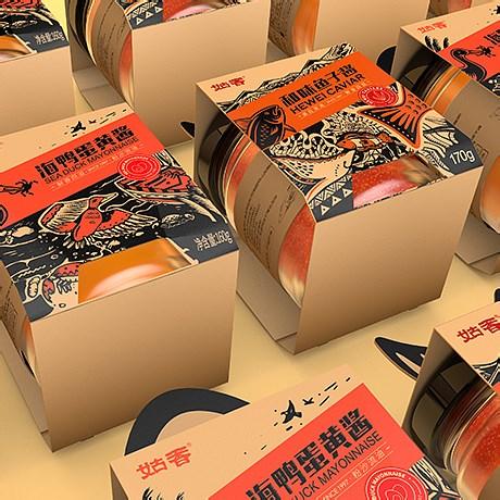 姑香魚子醬包裝設計、蛋黃醬包裝設計