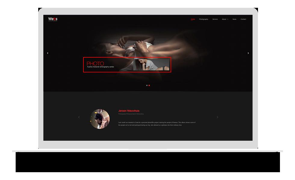 摄影摄像类网站模板