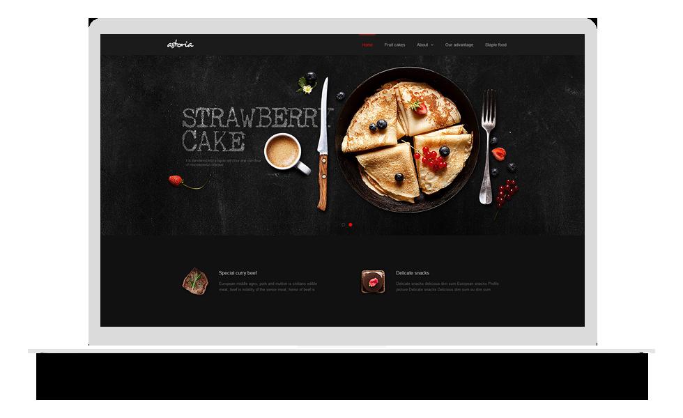 个性 食品类网站 mo004_1029