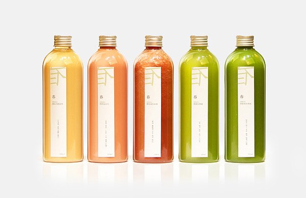 鲜榨果汁logo设计/VI设计