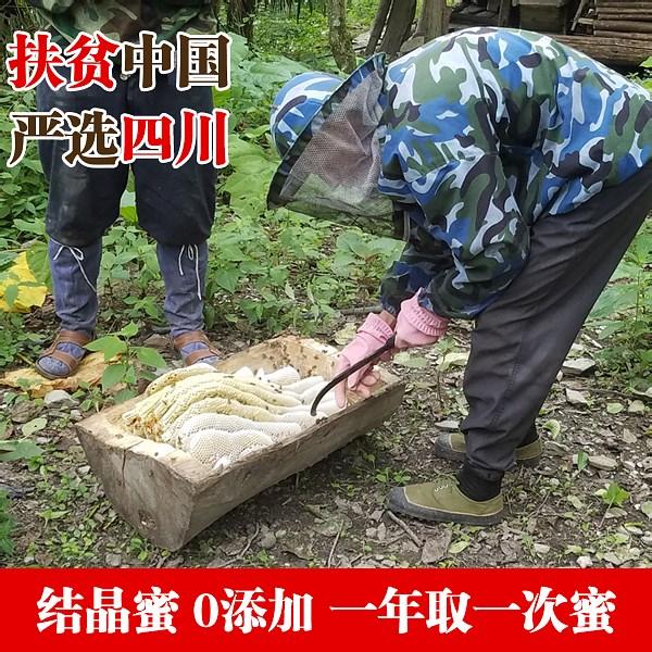 土蜂蜜野生蜂蜜古法割蜜一年取一次农家自食结晶蜜老农严选扶贫