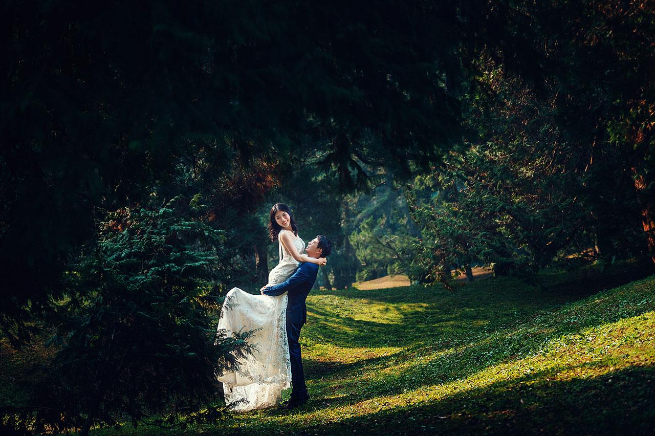 婚纱摄影精选植物园