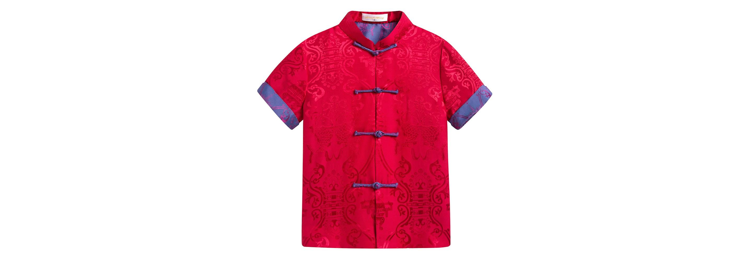红色双鱼短袖
