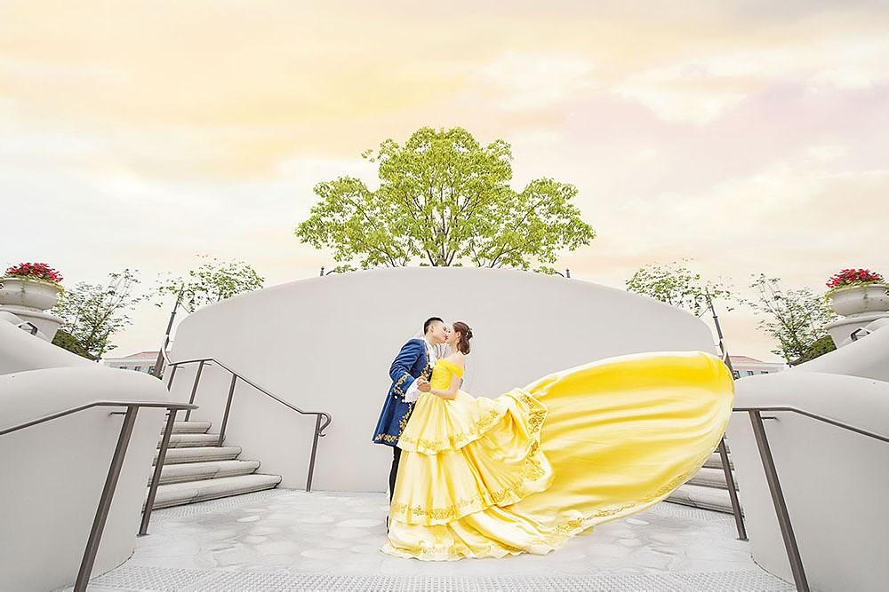 迪士尼婚礼摄影作品