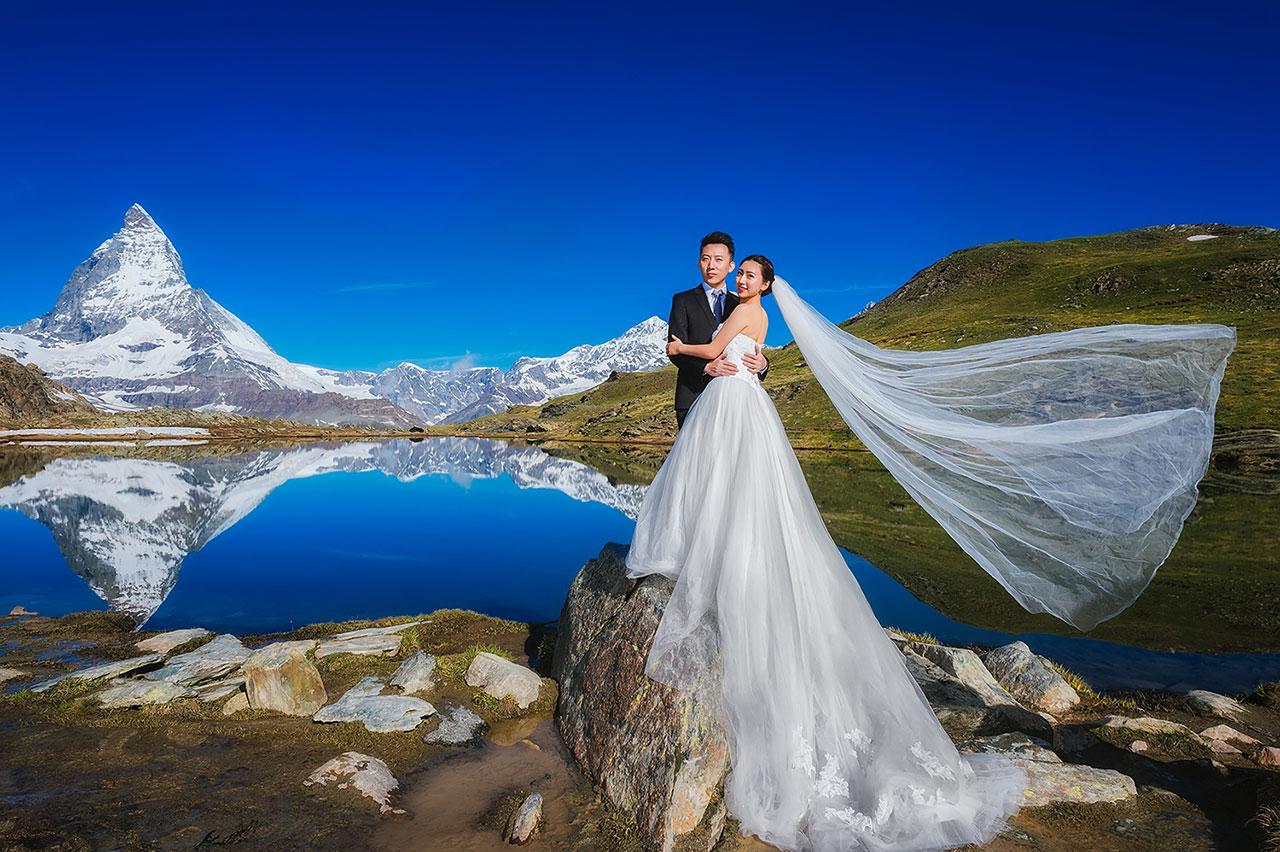 瑞士旅行婚纱