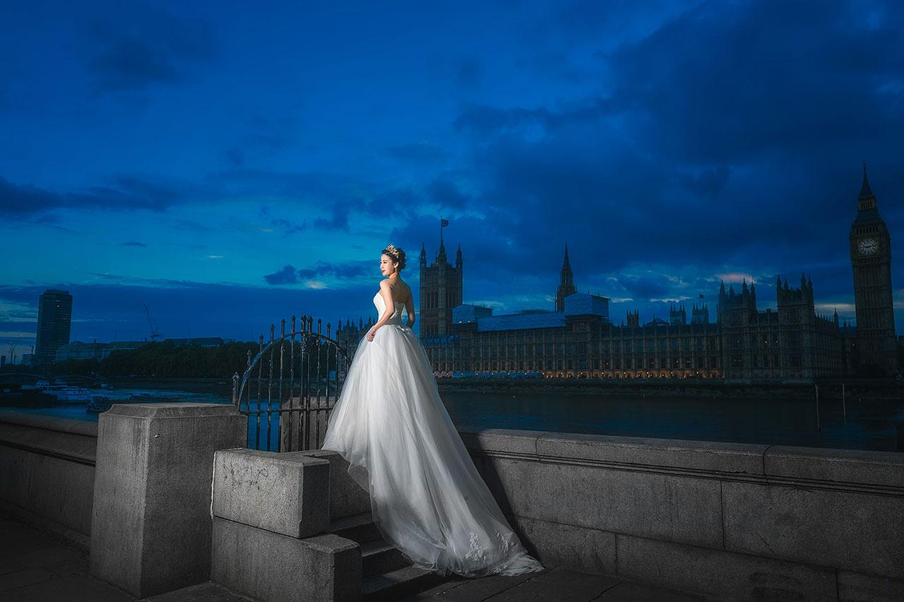 英国旅行婚纱