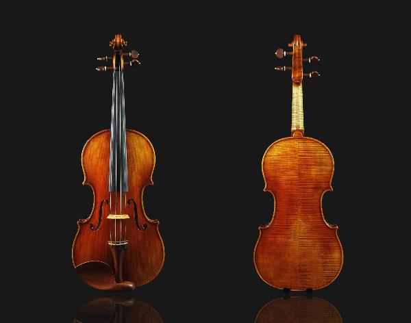 高级仿古风格小提琴