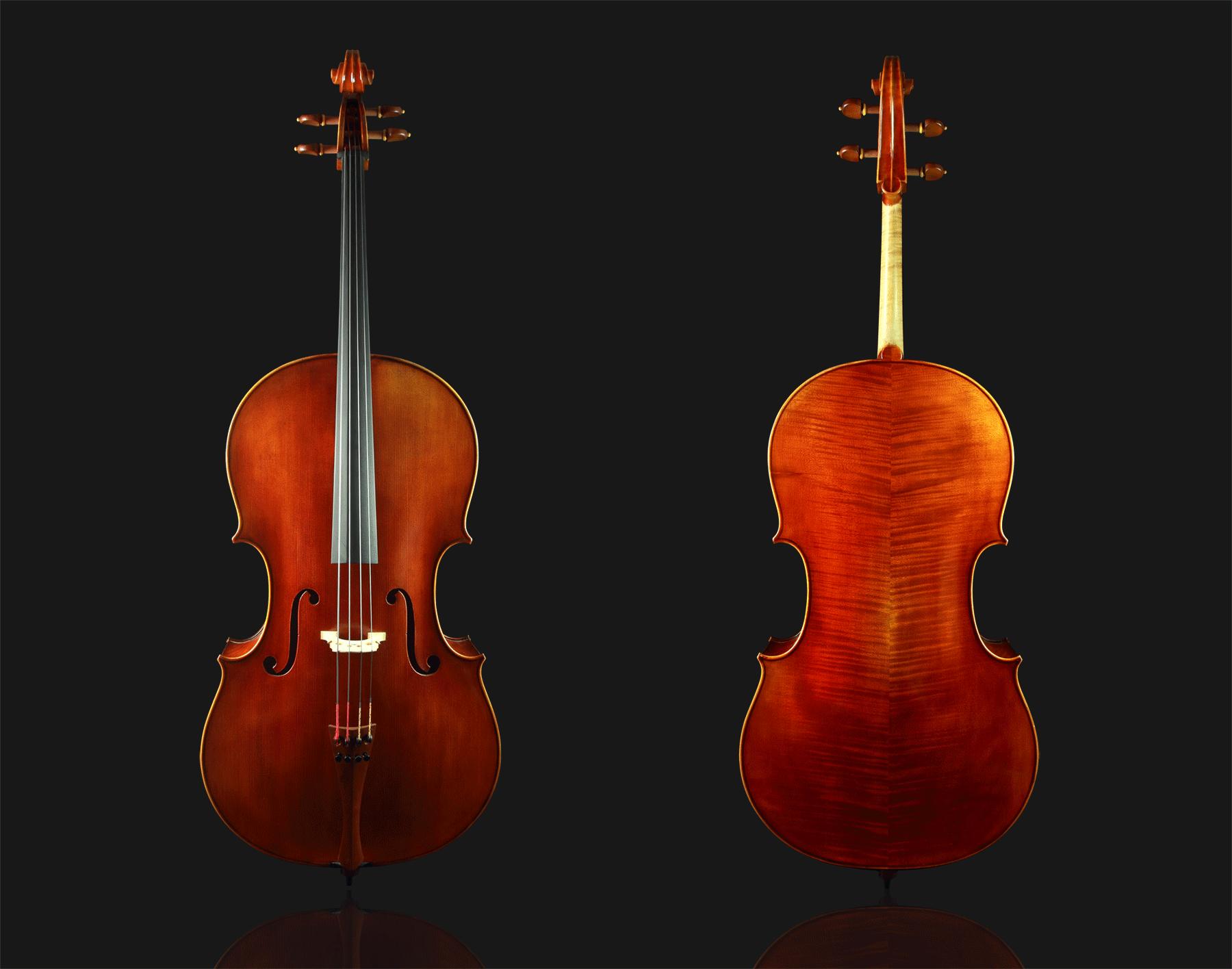 高级仿古风格大提琴