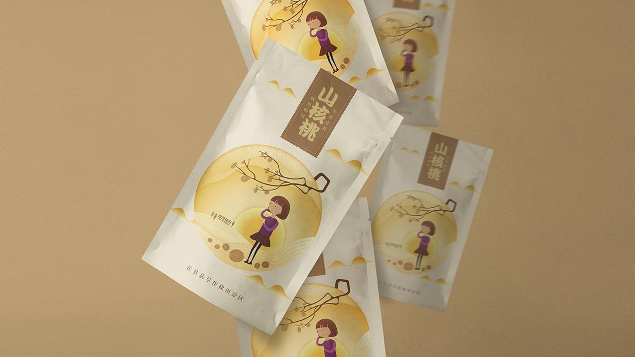 核桃包装,蜂蜜包装,食品包装设计