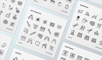 线性ICON图标设计欣赏