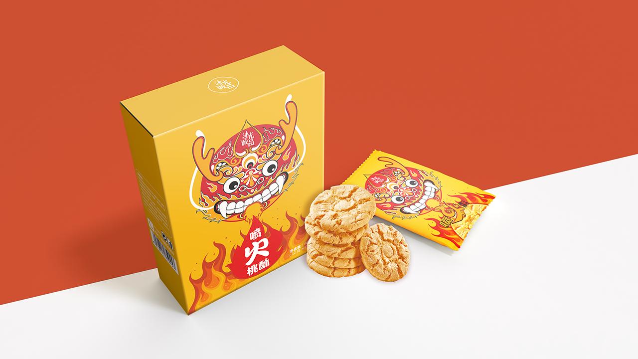 桃酥包装,食品包装设计,产品包装设计