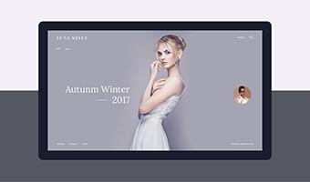 国外服装品牌网站设计,轻奢典雅欧美风