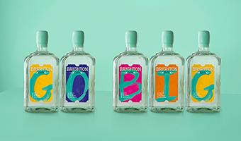 英国布莱顿限量版杜松子酒包装设计,创造品牌视觉定位符号