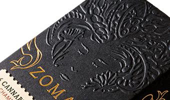国外品牌包装设计,黑色暗金系视觉呈现符号