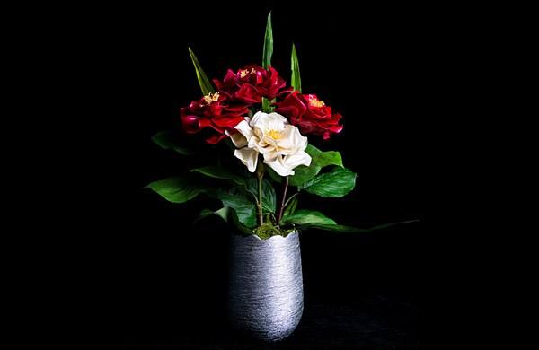 气球铁丝花-花瓶
