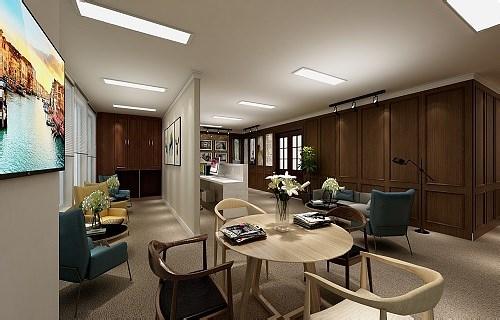 银行办公空间设计公装装修效果图片