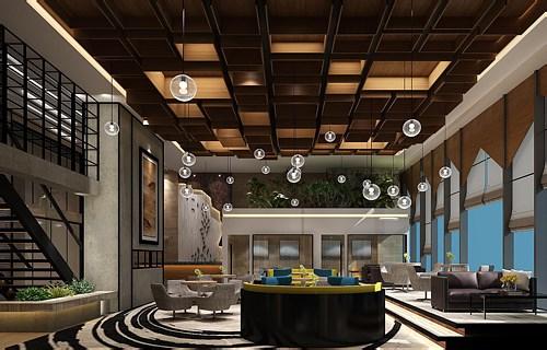 上海个性化办公空间设计效果图片