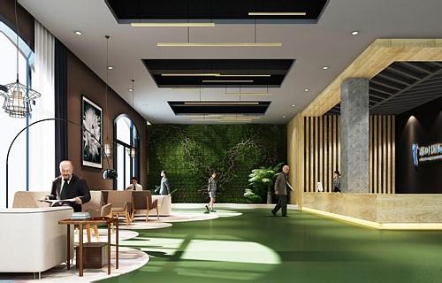 宁波慕时国际办公的空间设计效果图片