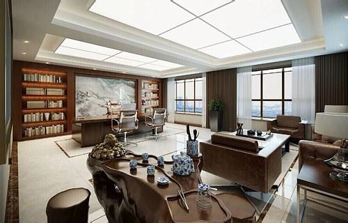 xx地产创意办公空间设计效果图片