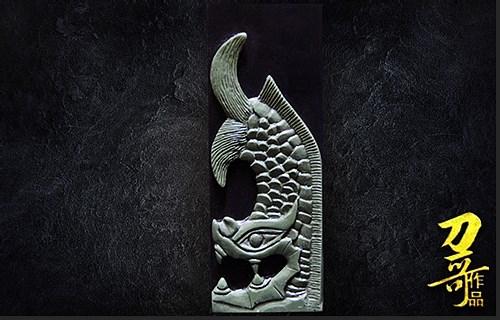 何立宁印钮雕刻代表作品《西夏鸱吻》之一