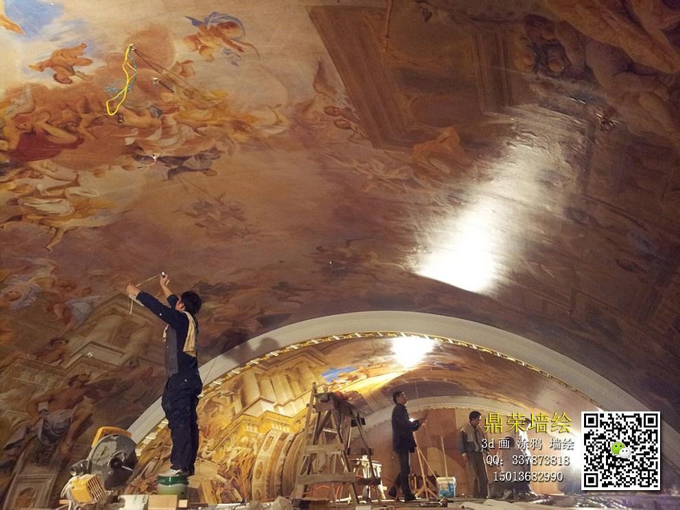 维也纳酒店禅城店 巨幅天顶画