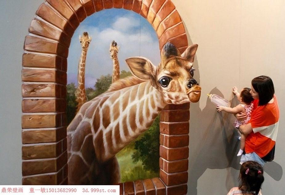 适合餐厅的3D立体画     深圳手绘墙公司