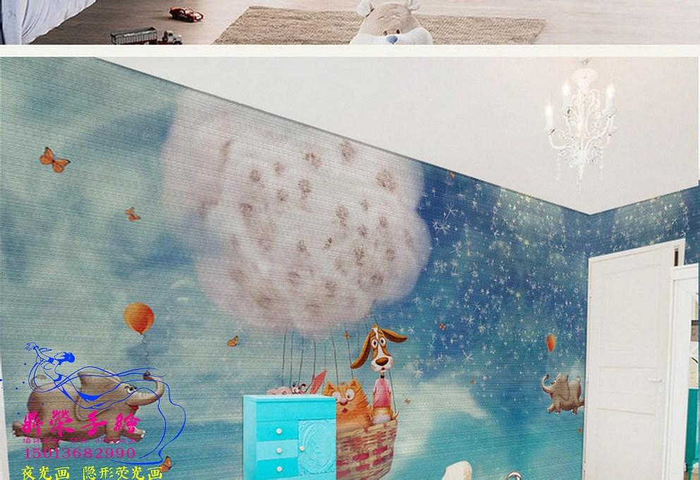 深圳手繪墻公司  室內背景墻彩繪