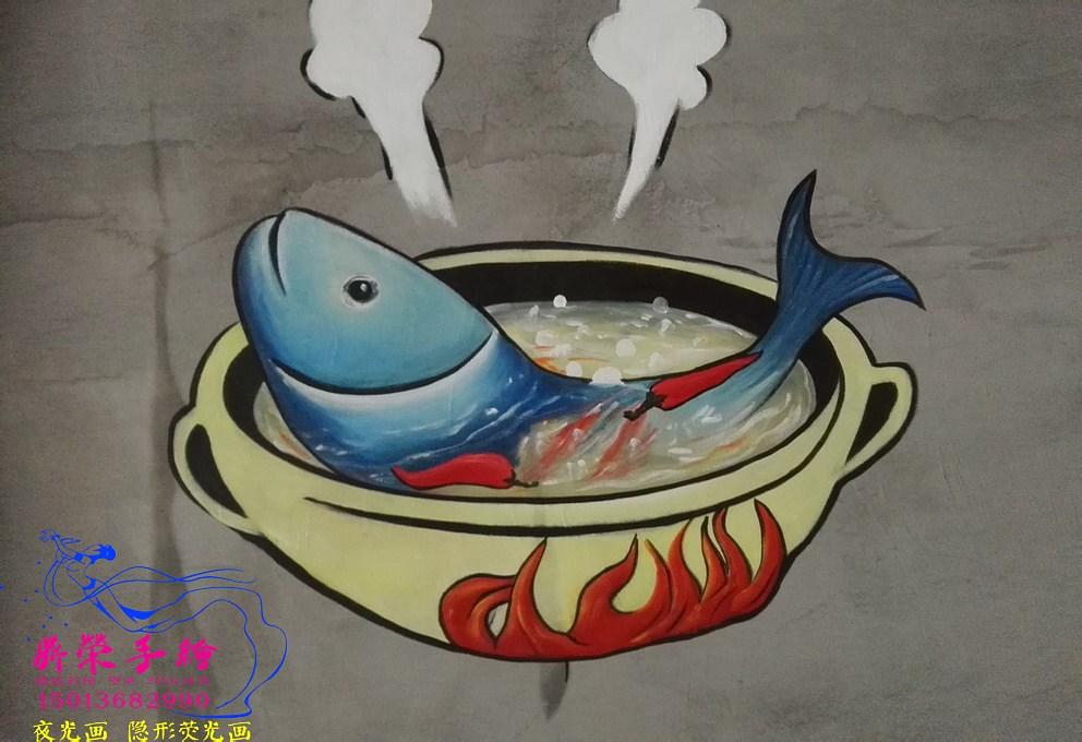 怎么做餐厅墙面的墙绘?