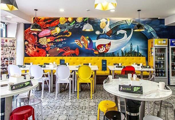 餐廳墻體彩繪搭配原則