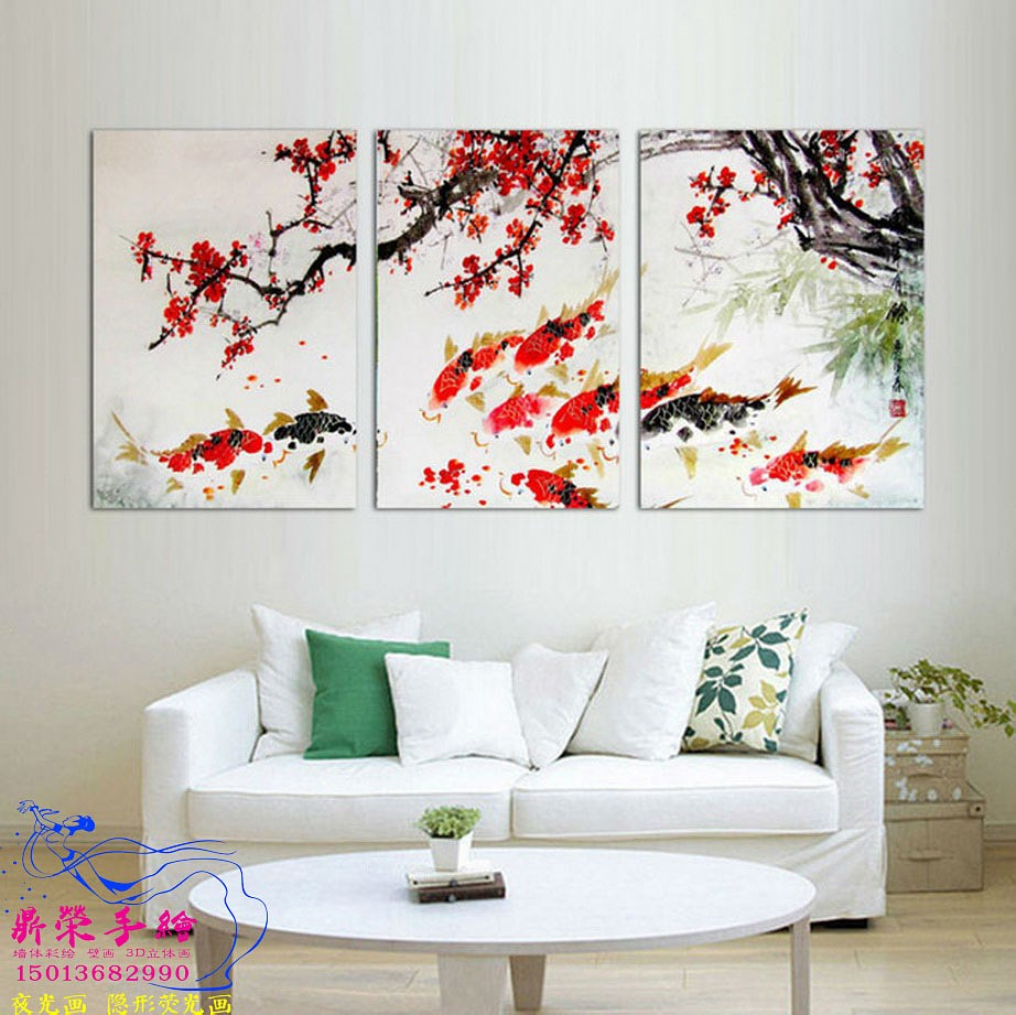 3-Piece-Free-Shipping-Modern-Wall-Painting-Cherry-Blossom-Koi-Fish-Home-Decorative-Art-Picture-Paint.jpg_640x640_調整大小.jpg
