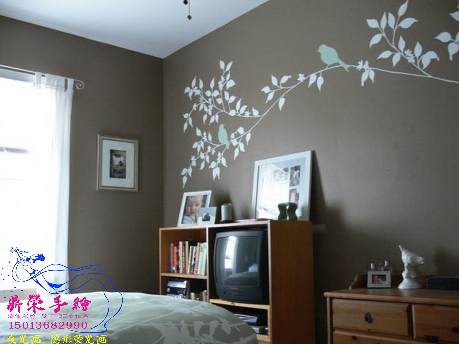 Beautiful-Stylish-Creative-Teenage-Bedroom-Design-Idea-With-Branches-On-Brown-Wall-590x442_调整大小.jpg