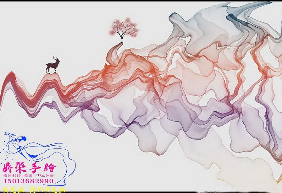 深圳墻繪   中式風格裝飾畫