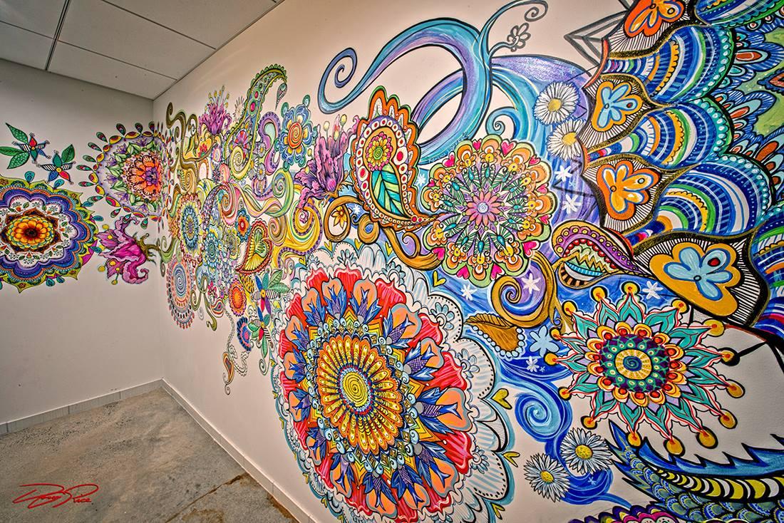 千嬌百媚手繪墻 涂料繪出個性
