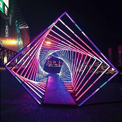 青羊万达广场开业灯光装饰
