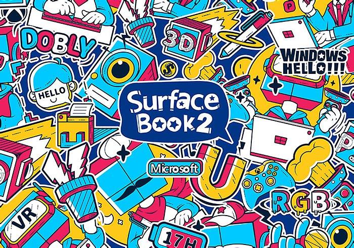 【全国银奖】微软Surface Book 2插画设计