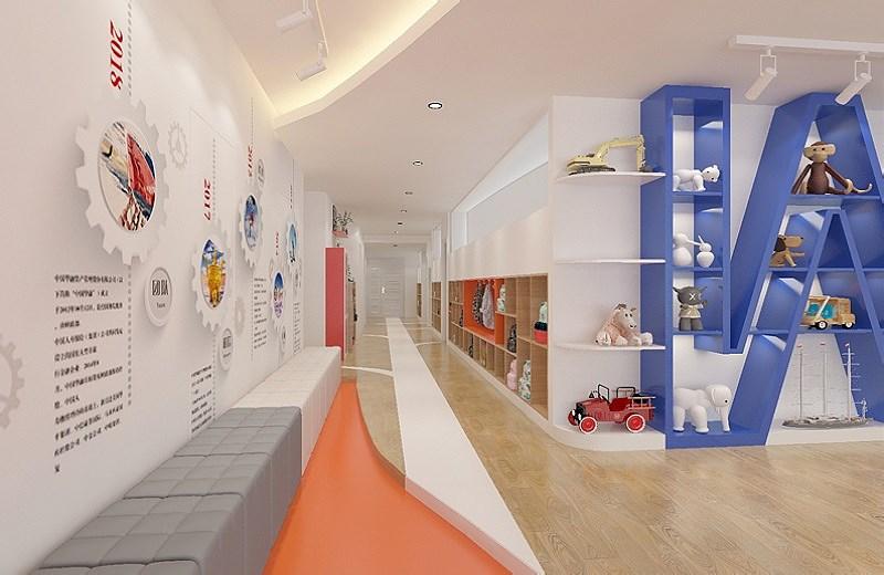 英语培训机构装修设计:让时尚与童趣相交互辉映